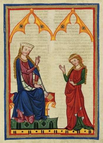 Die Winsbekin (aus dem Codex Manesse)