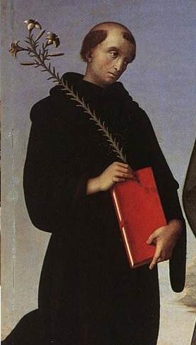 Abbildung eines Mönches (Pietro Perugino, 15. Jahrhundert)