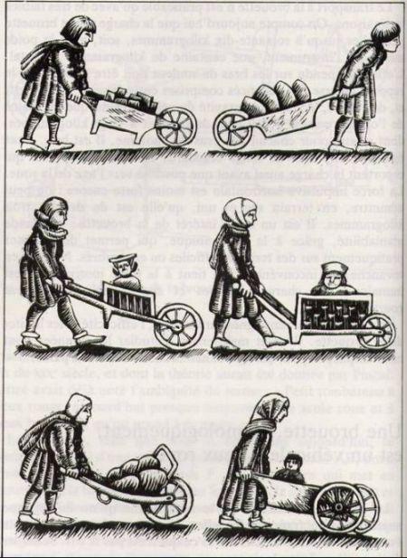 Mittelalterliche Schubkarren