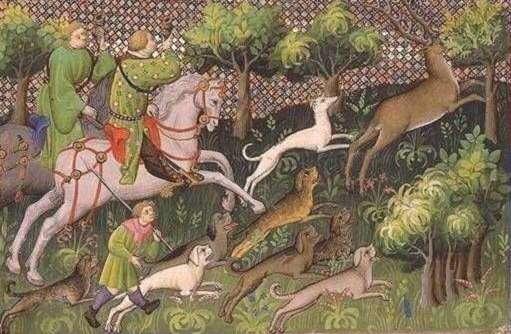 Mittelalterliche Hirschjagd
