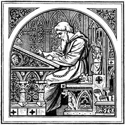 Mittelalterlicher Schreibtisch