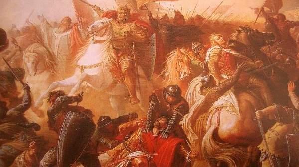 Die Schlacht auf dem Lechfeld im Jahre 955