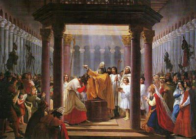 Die Taufe von Chlodwig I.