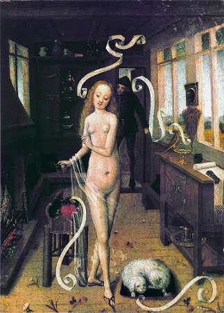 Der Liebeszauber (Niederrheinischer Meister, 15. Jahrhundert)