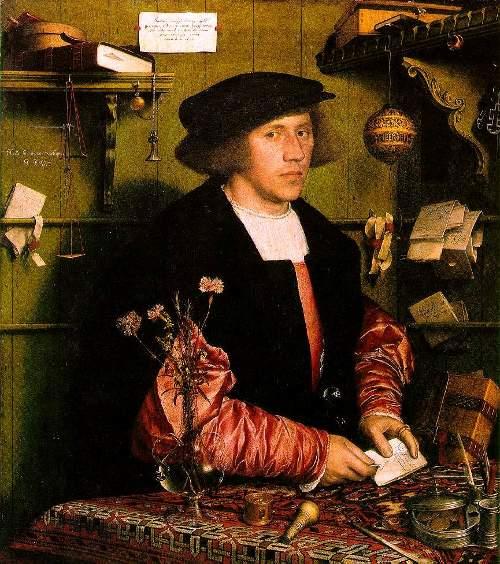 Deutscher Hanse-Kaufmann in seinem Arbeitszimmer in London